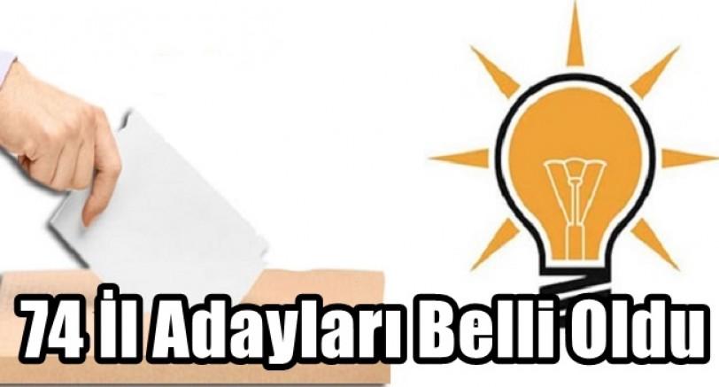 74 İl'de Belediye Başkan Adayları Belli Oldu