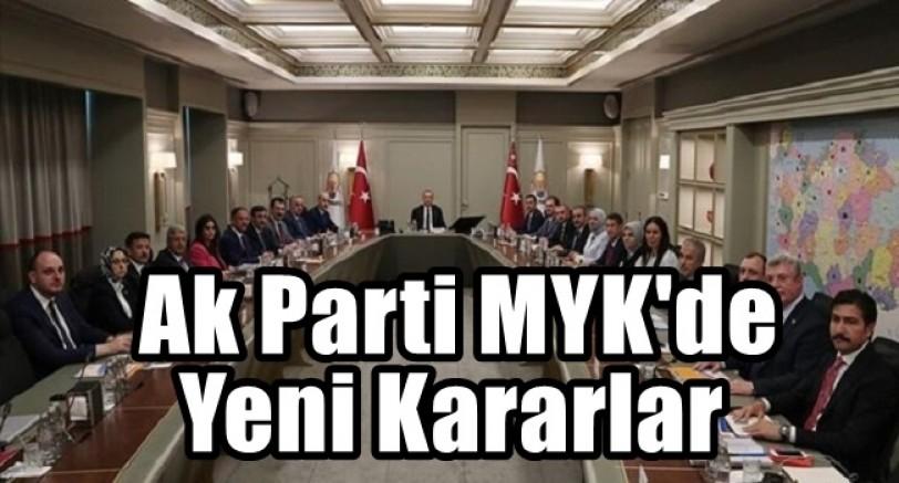 Ak Part, MYK'de Yeni Kararlar