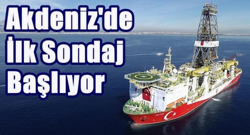 Akdeniz'de İlk Sondaj Başlıyor
