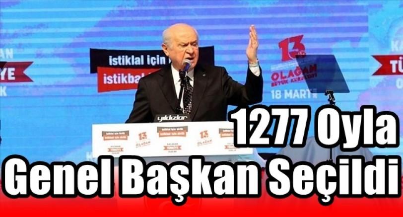 Bahçeli 1277 Oyla Yeniden Genel Başkan