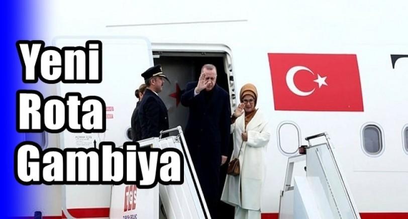 Başkan Erdoğan Gambiya Yolunda