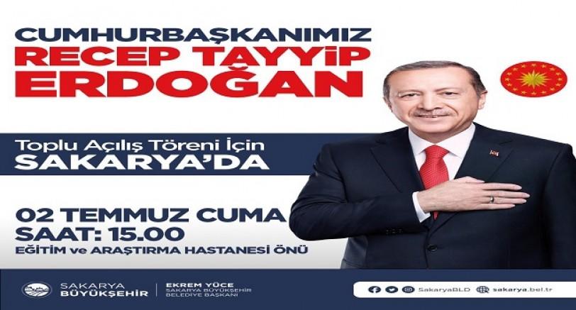 Başkan Erdoğan Yarın Komşu Sakarya'da