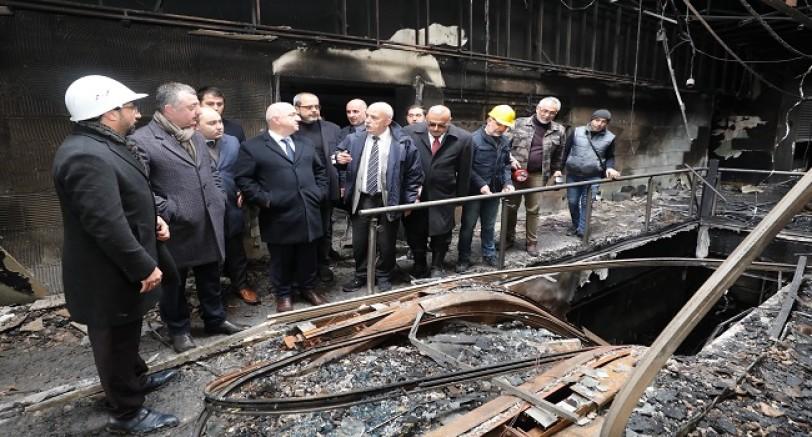 Büyükakın Darıca Büyük Yangında Zarar Gören Esnafı Ziyaret Etti