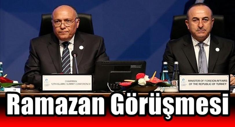 Çavuşoğlu Mısır Dışişleri Bakanı İle Görüştü