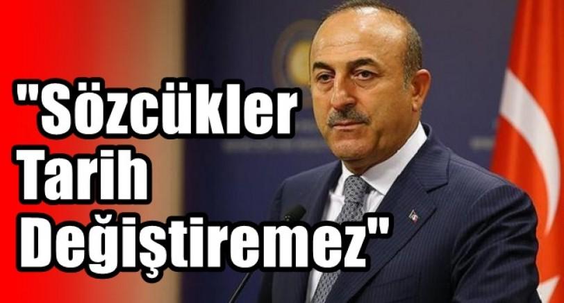 """Çavuşoğlu 'Sözcükler Tarihi Değiştiremez, Yeniden Yazamaz'"""""""
