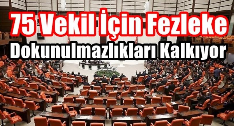 Dokunulmazlık İçin 75 Fezleke Mecliste