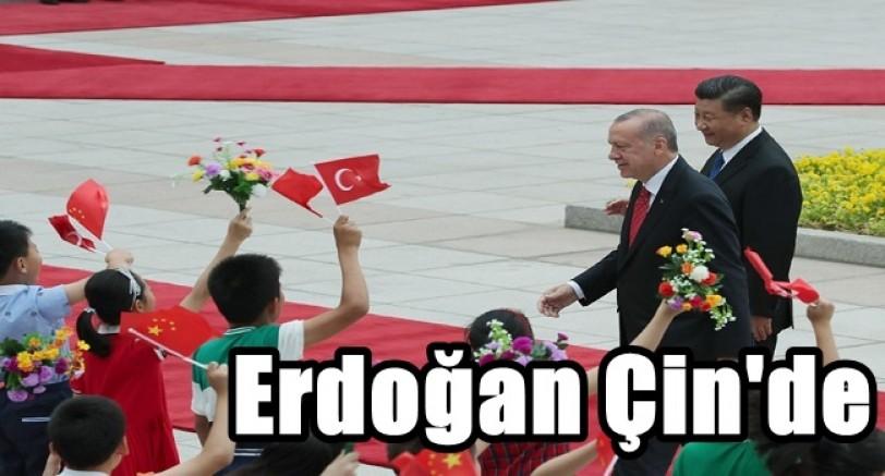 Erdoğan Çin Ziyaretine Başladı