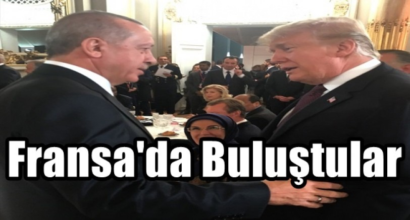 Erdoğan ve Trump Fransa'da Buluştu