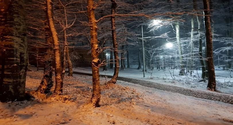 Erikli Tepe'de Kar Yağışı Başladı