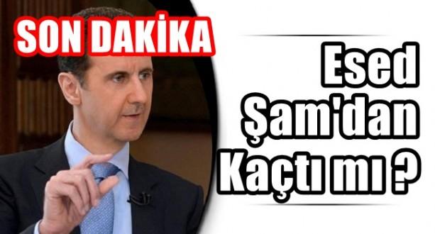 Esad Şam'dan Kaçtı İddiası