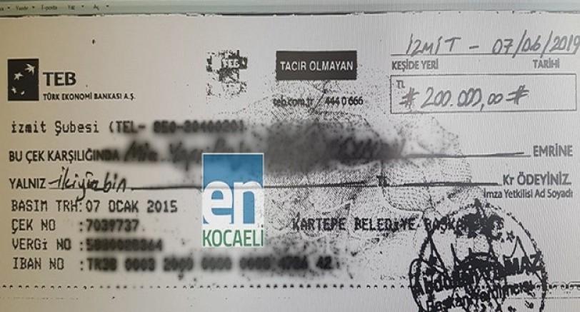 Kartepe Belediyesinin Çekleri Yazıldı mı ?
