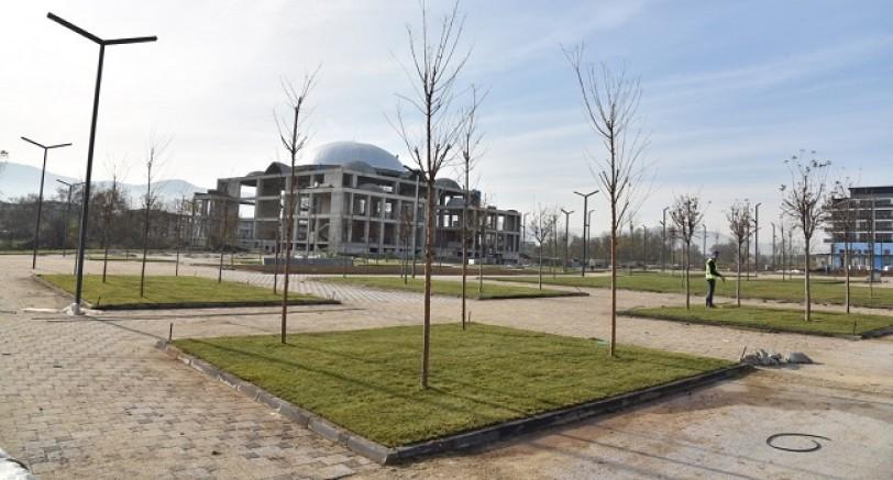 Kartepe Kent Meydanında Çimler Seriliyor
