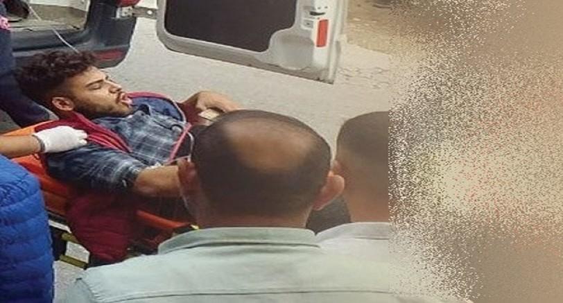 Kaza Geçiren Motorsiklet Sürücüsünün Ayağı Koptu