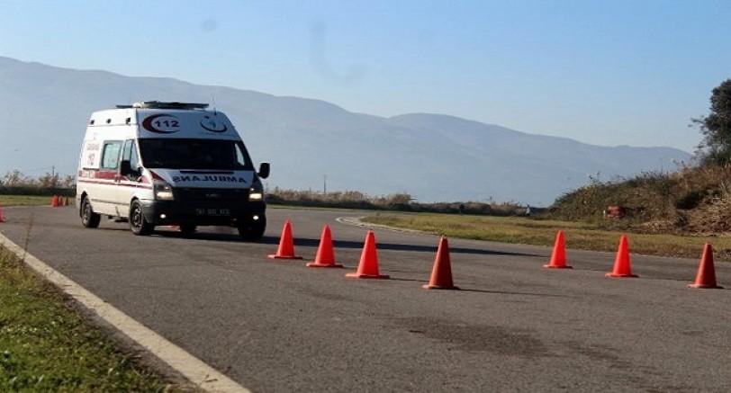 Kocaeli'de Ambulanslar Yarıştı