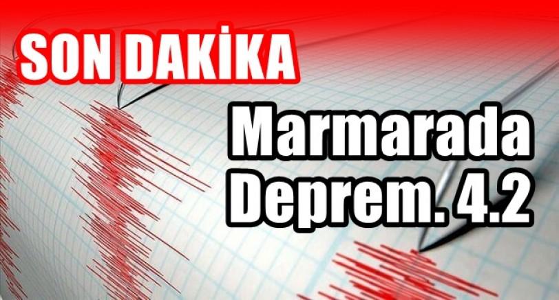 Marmara Denizinde Deprem Meydana Geldi