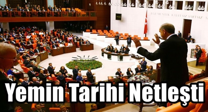 Mecliste Yemin Tarihi Belirlendi
