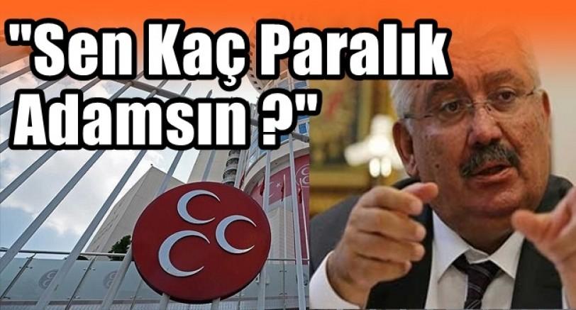 MHP'den Çok Sert Sözler!