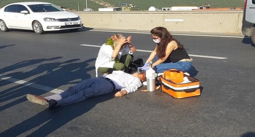 Otobüsün Çarptığı Şahıs Ağır Yaralandı
