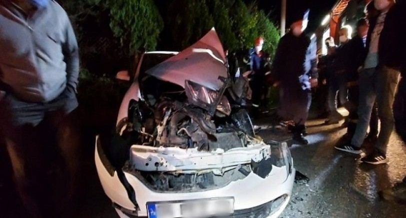 Otomobil Tır İle Çarpıştı 1 Yaralı
