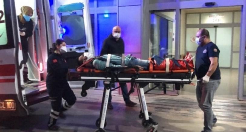 Polisten Kaçmak İsterken Düşüp Ayağını Kırdı