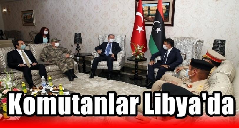 Savunma Bakanı Akar ve Gen.Kur. Başkanı Güler Libya'da