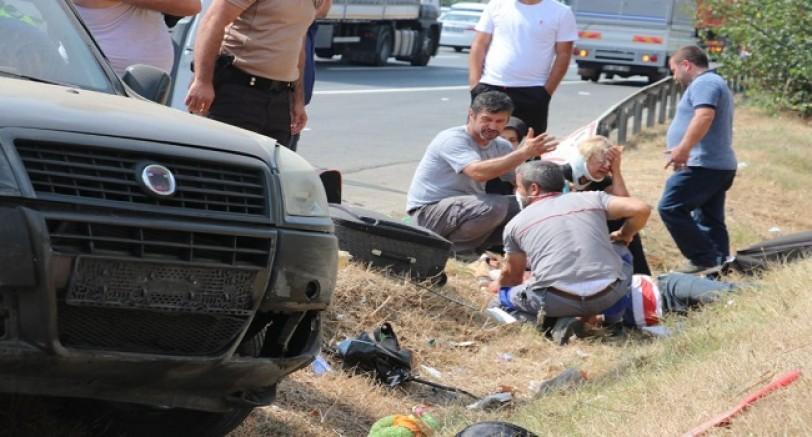 TEM Kocaeli'de Can Pazarı 2'si Çocuk 6 Yaralı