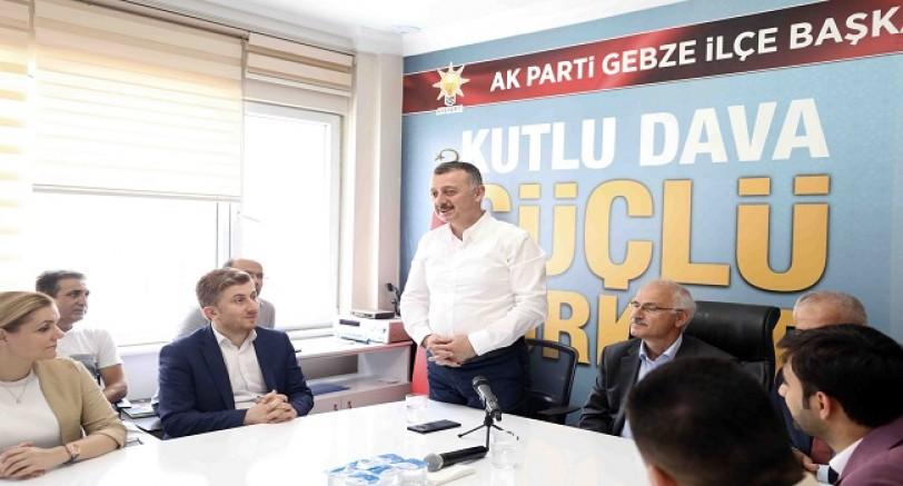 'Teşkilatlarla Birlikte Yürüyeceğiz ve Çalışacağız'