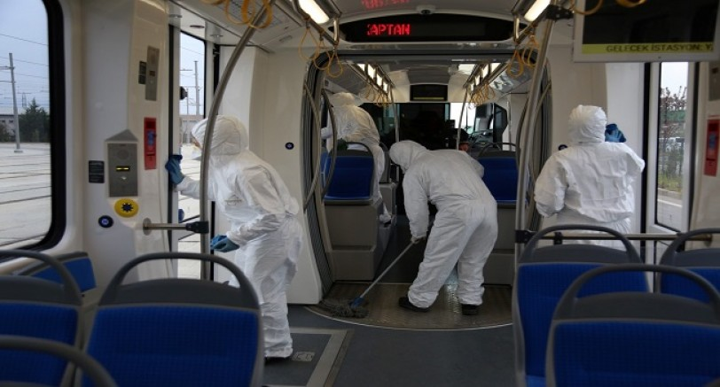 Tramvay'da Her Gün Temizlik Var