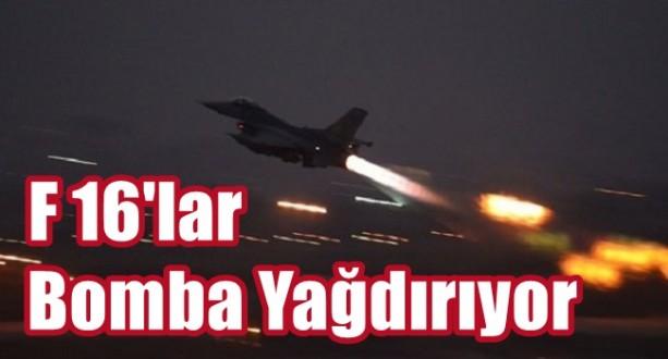 Türk Jetleri Ağır Bombardımana Başladı