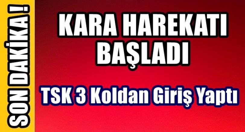 Türk Ordusu Kara Harekatına Başladı