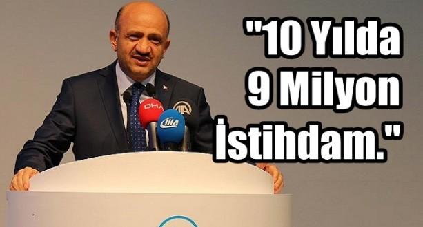 Türkiye 10 Yılda 9 Milyon İsatihdam Üretti
