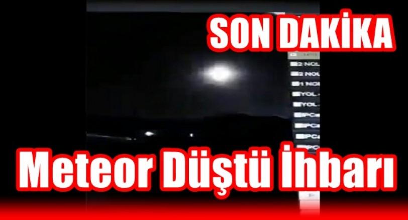 Türkiye'de Bazı İllerde Meteor Düştü İhbarı