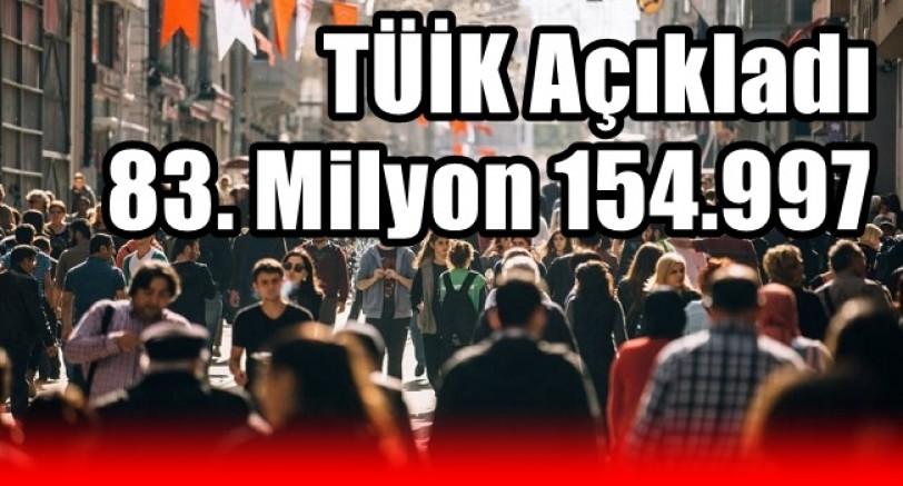 Türkiye'nin Nüfusu 83 Milyon'u Aştı
