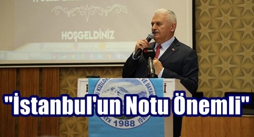 Yıldırım, İstanbul'un Notu Önemlidir