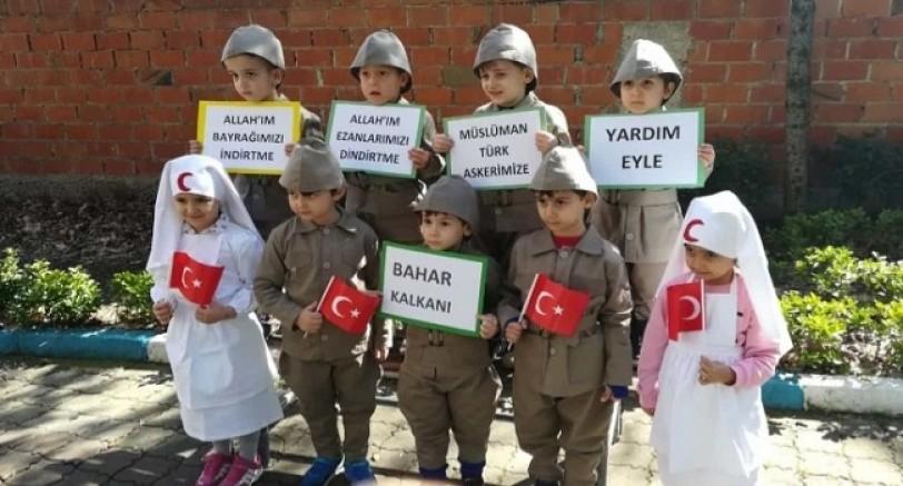 Yuvacık'ta Minik Kur-an Kursu Öğrencilerinden Mehmetçiğe Destek